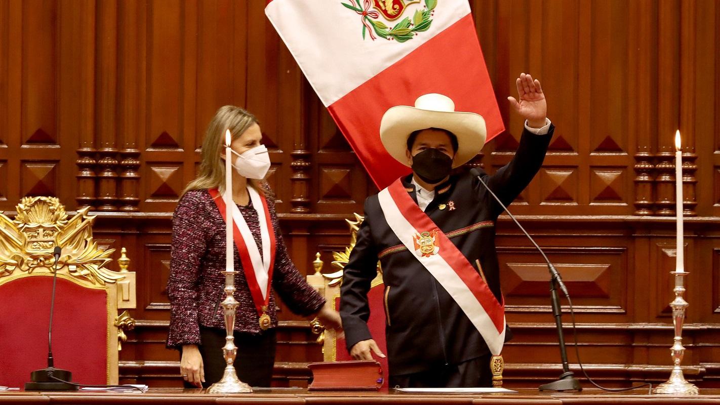 José Pedro Castillo Terrones, juramentó como Presidente Constitucional del Perú.