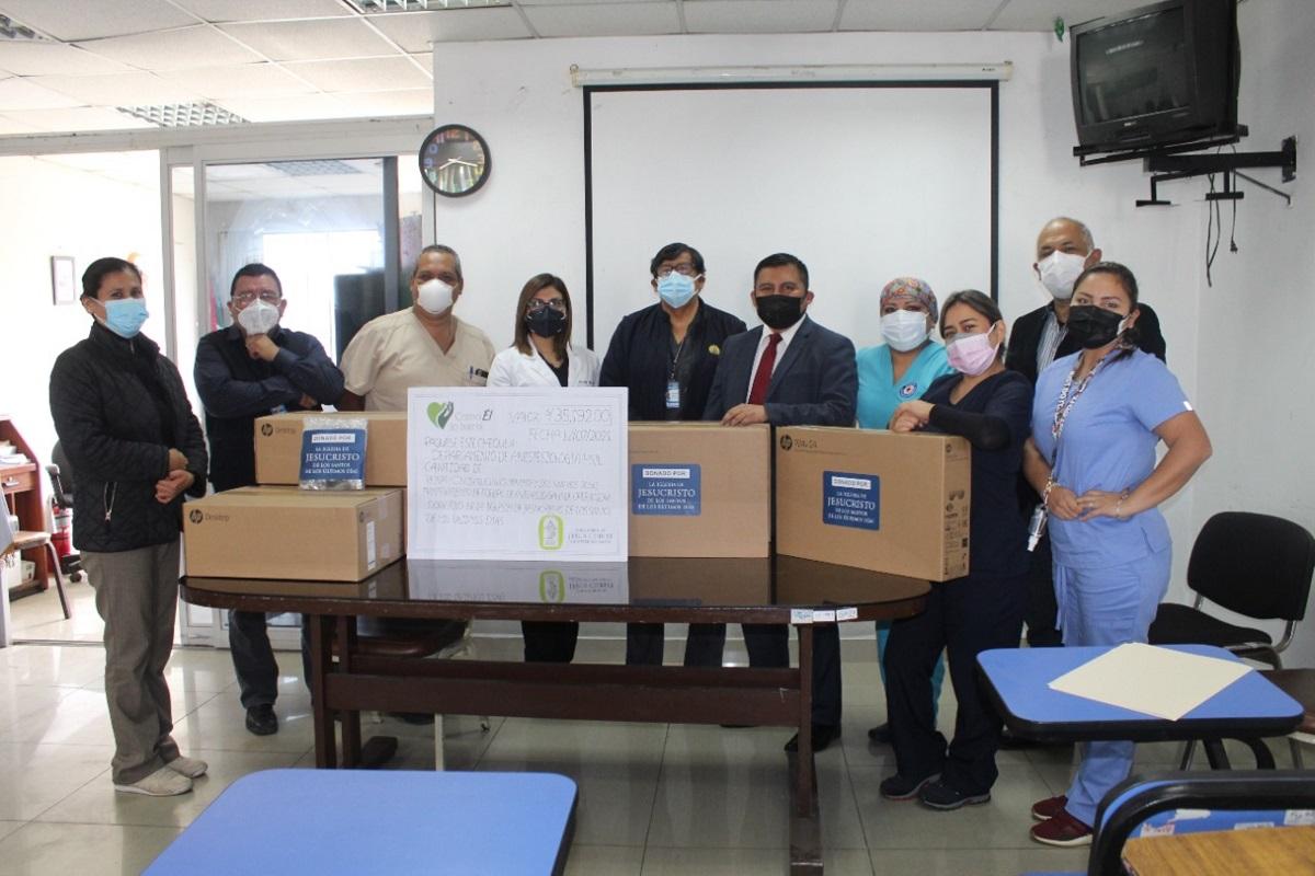 Iglesia de Jesucristo entrega donación al hospital San Juan de Lurigancho - Lima.