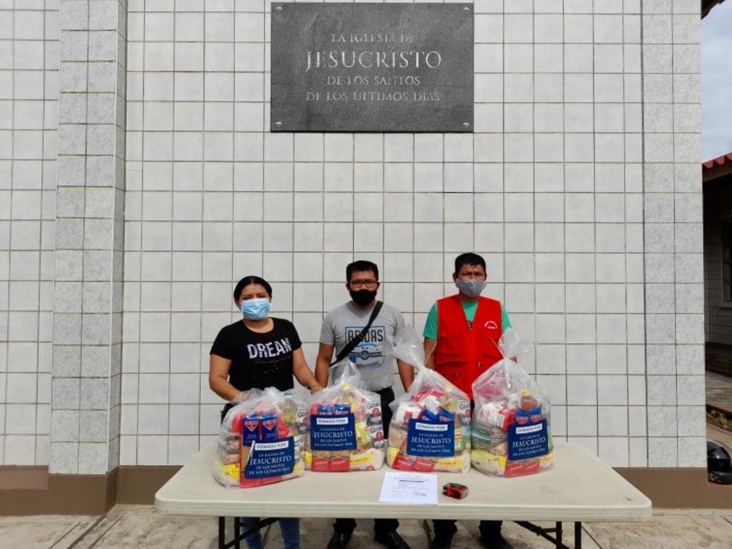 Iglesia de Jesucristo dona alimentos a varias comunidades de la región San Martin.