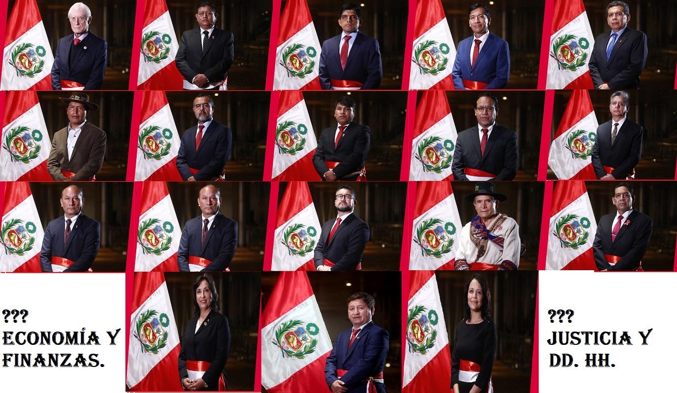 Juramentó primer gabinete ministerial del gobierno de Pedro Castillo, faltó Economía y Justicia.