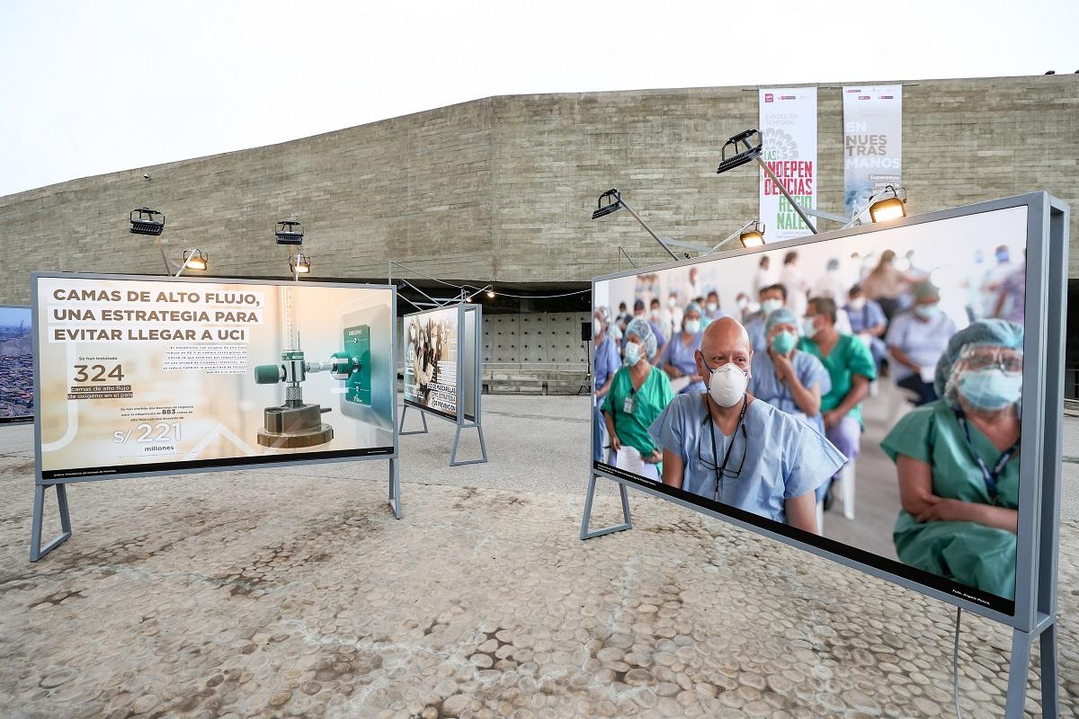 En Nuestras Manos, exposición sobre la lucha contra la pandemia por parte del Estado ya puede ser visitada.