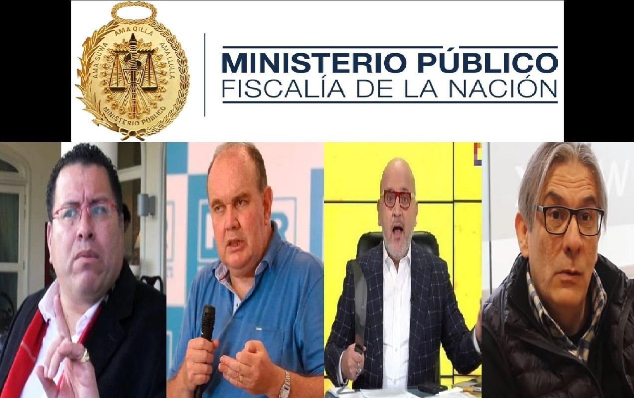 Fiscalía abre proceso por Conspiración y Sedición a Phillip Butters, López Aliaga, Beto Ortiz y Enrique Luna Victoria.