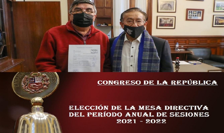 Tercera lista para presidir el Congreso, la lidera: Somos Perú, Perú Libre, Juntos por el Perú y No Agrupados.