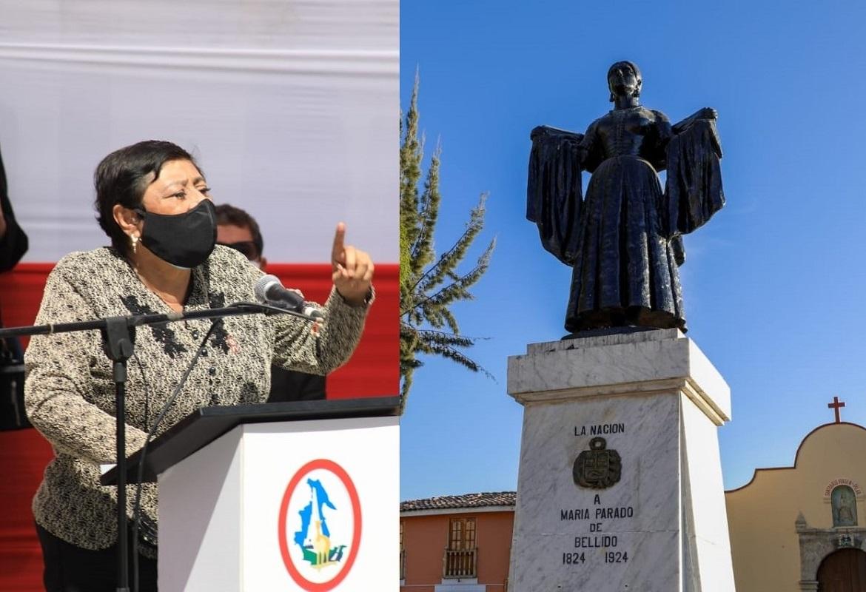 Gobierno otorga la Orden Emérito a las Mujeres del Bicentenario a la heroína María Andrea Parado Jayo de Bellido.