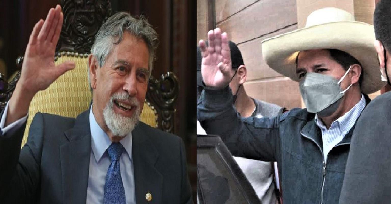 Jefe de Estado Francisco Sagasti se reune esta tarde con el presidente electo Pedro Castillo.