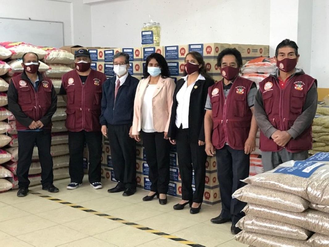 16 ollas comunes de Ancón en Lima reciben 16 toneladas de ayuda humanitaria para familias en estado de vulnerabilidad.