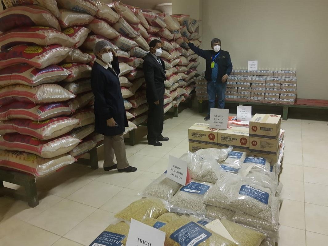 Hospital COVID-19 de Arequipa recibe ayuda humanitaria de la Iglesia de Jesucristo, informaron voceros Santos de los Últimos Días.