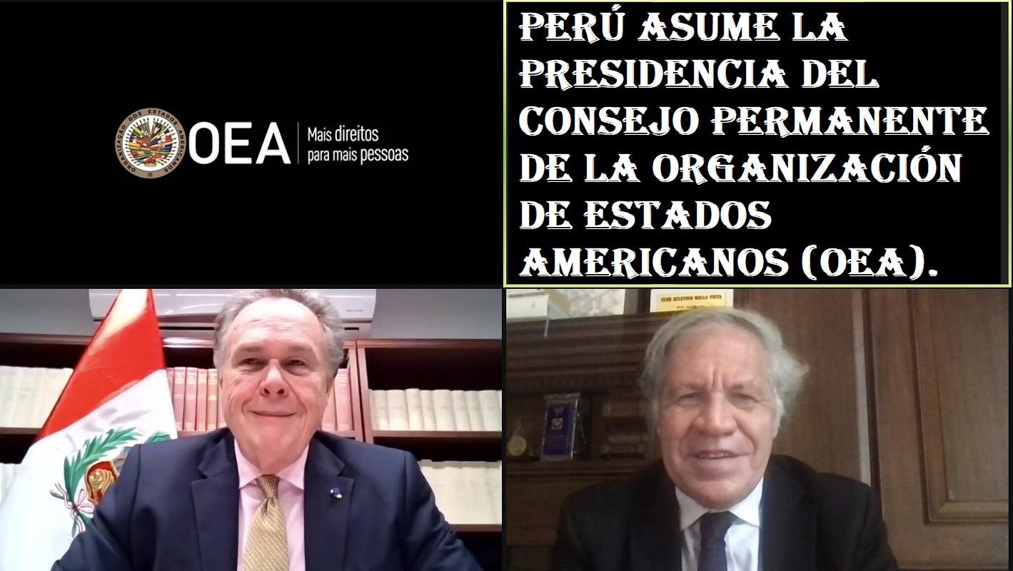 Perú asume la Presidencia del Consejo Permanente de la OEA, embajador Harold Forsyth, asumió el cargo.