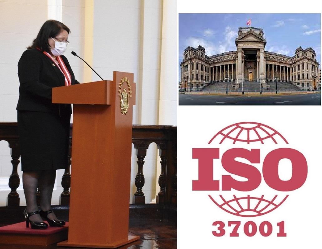Poder Judicial obtuvo la certificación del Sistema Gestión Antisoborno-Norma ISO 37001:2016.