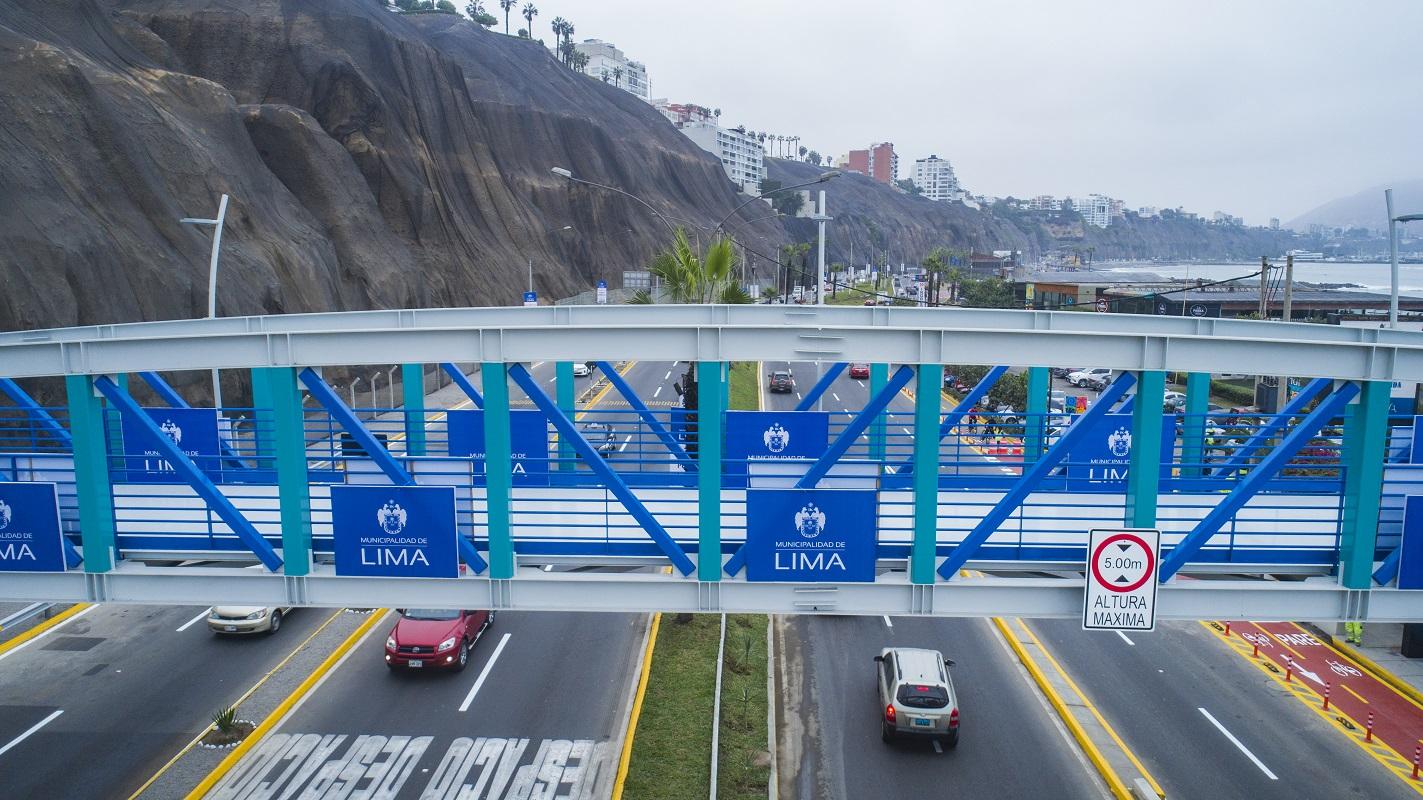Barranco ya cuenta con su primer puente peatonal inclusivo beneficiando a más de 149 mil visitantes.
