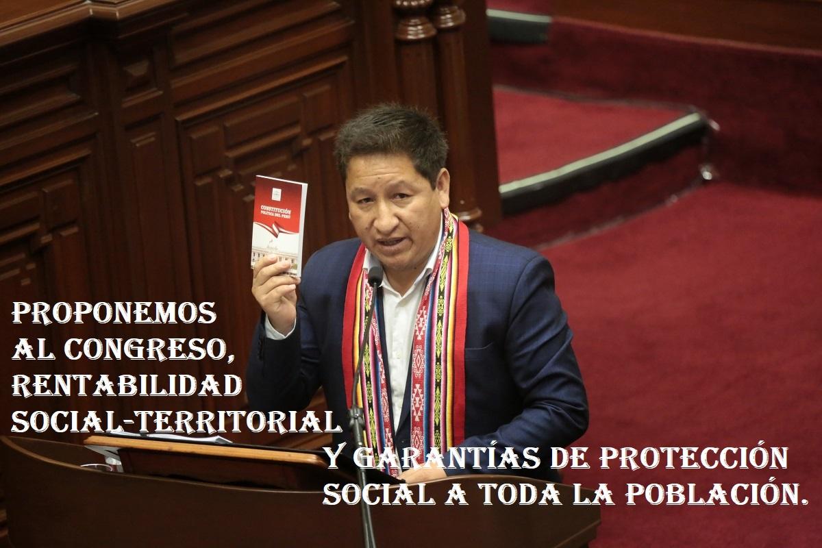 Gabinete del premier Guido Bellido propone al Congreso, rentabilidad social-territorial y garantías de protección poblacional.