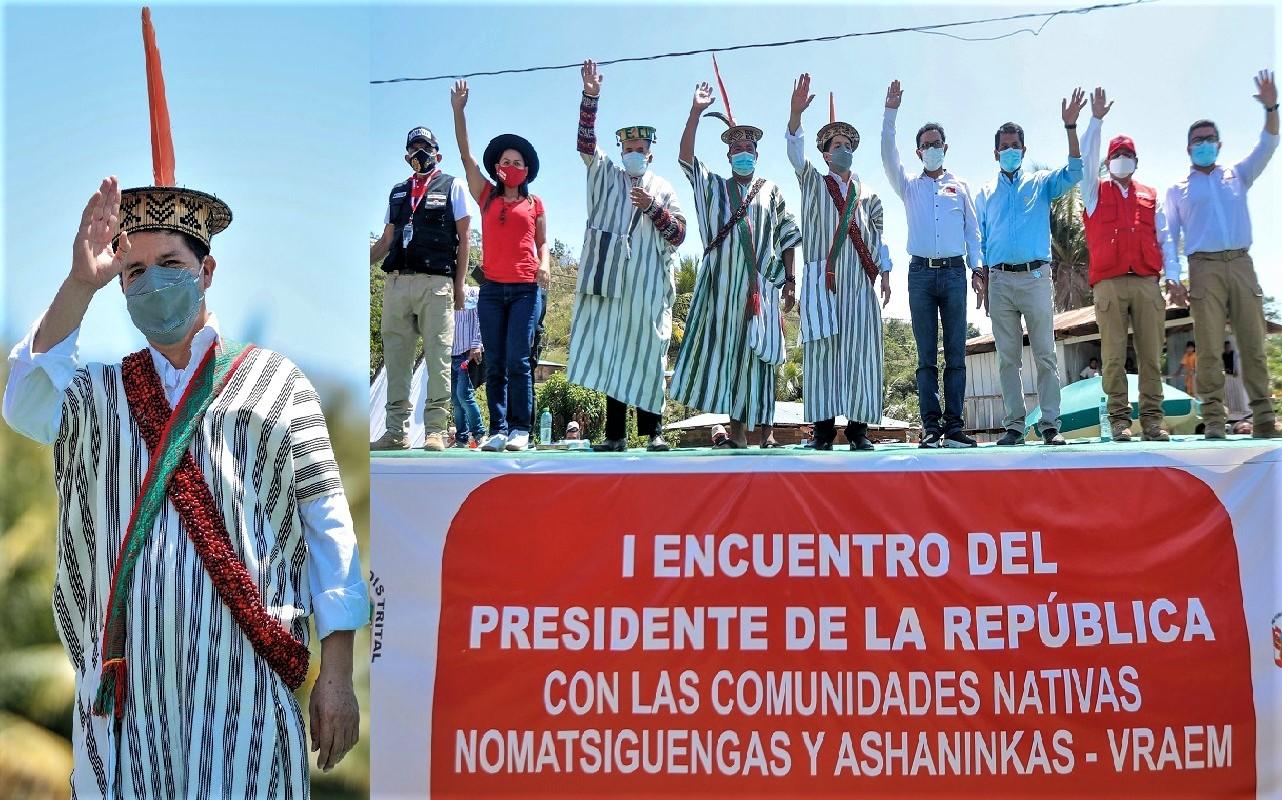 El gobierno está poniendo el pecho para que baje el precio del gas, del aceite y del pan, sostuvo desde Mazamari el presidente Pedro Castillo.
