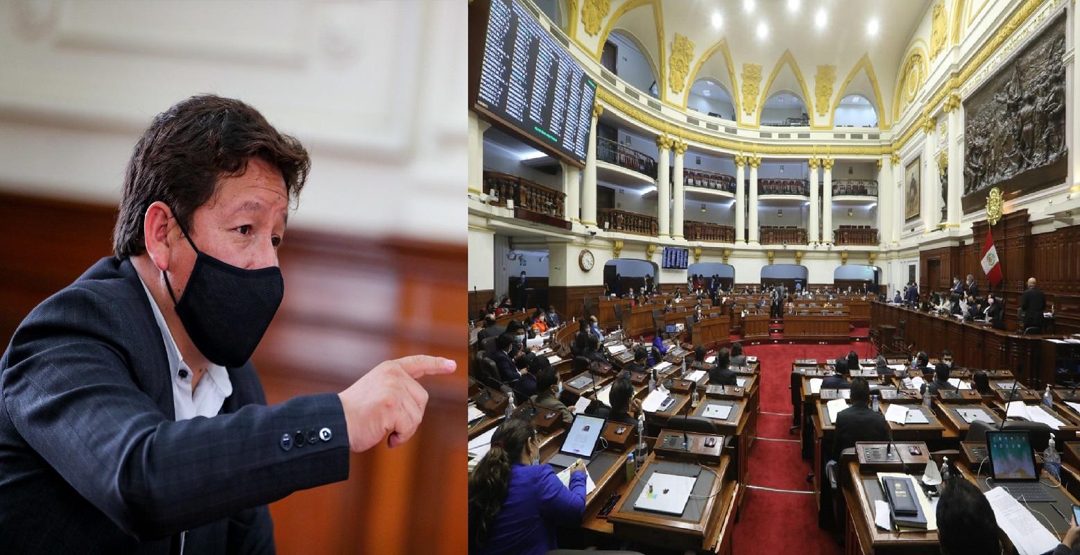 Con 61 votos en contra, no prosperó propuesta de legisladores desestabilizadores en contra del premier Guido Bellido.