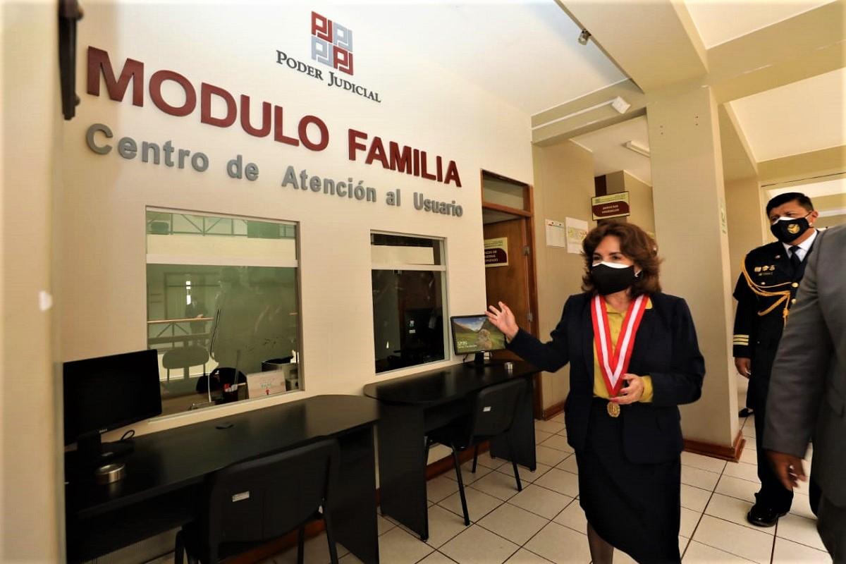 Desde Tacna presidenta del poder judicial propone proyecto para unificar en un solo procedimiento los procesos por alimentos.
