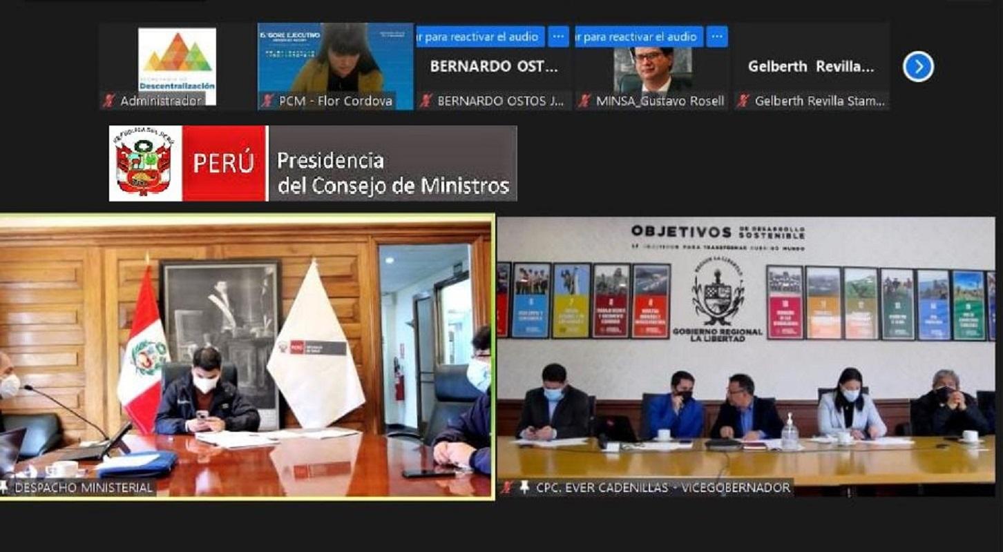 Hoy 20 y mañana 21 ministerios y gobiernos regionales sostienen reuniones bilaterales previo al 15° GORE a realizarse en Iquitos.