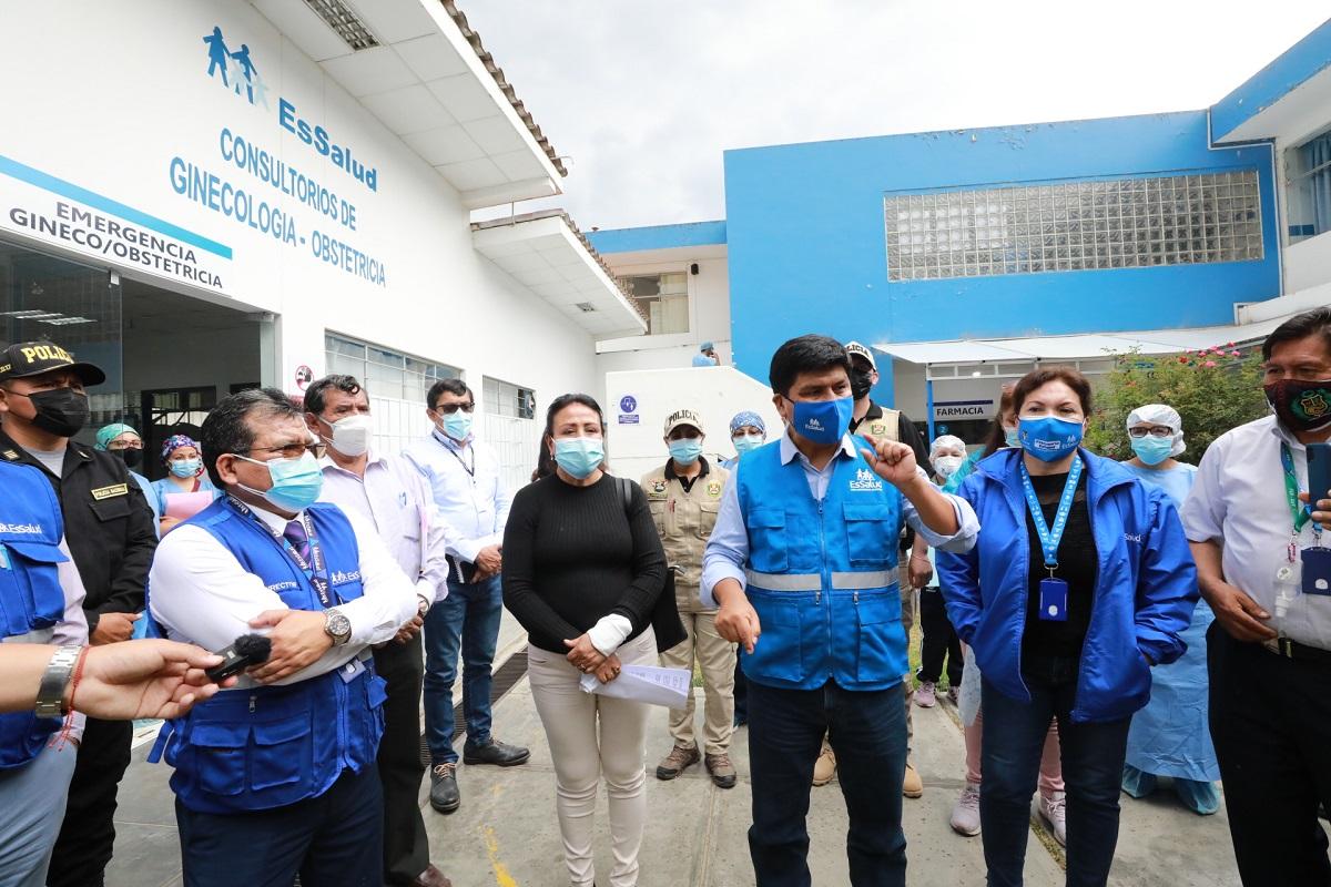 EsSalud está preparada para enfrentar una tercera ola de pandemia, también se anunció construcción de moderno hospital en Huánuco.