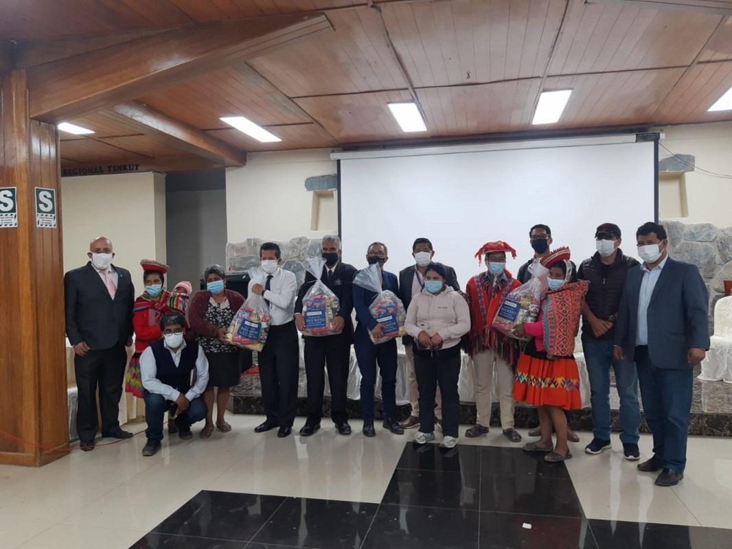Gobierno local de Ollantaytambo en Urubamba-Cusco, recibe 20 toneladas de alimentos de la Iglesia de Jesucristo.
