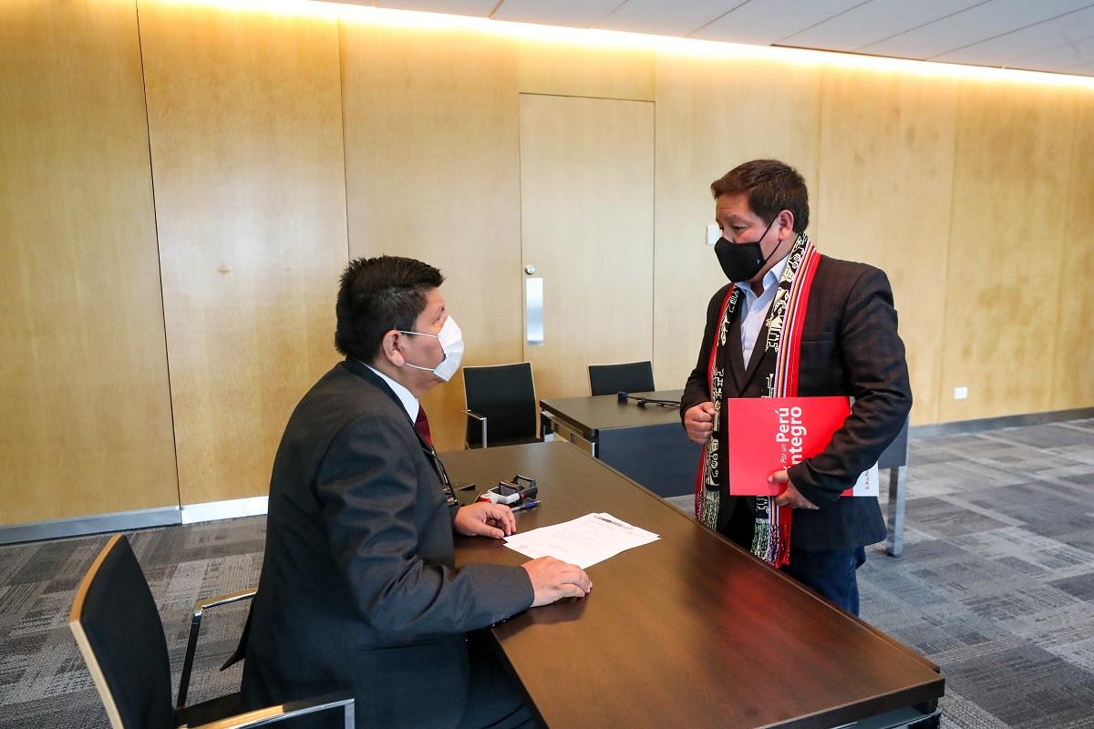 Gobierno con oficio entregado por premier Guido Bellido formaliza renegociaciones de los contratos de gas con PlusPetrol.