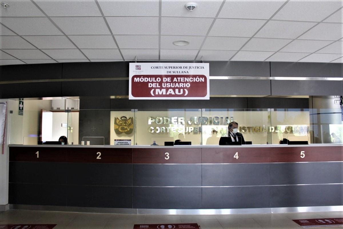 Corte Superior de Sullana cuenta con nuevo módulo de atención presencial y virtual en beneficio de usuarios y litigantes.