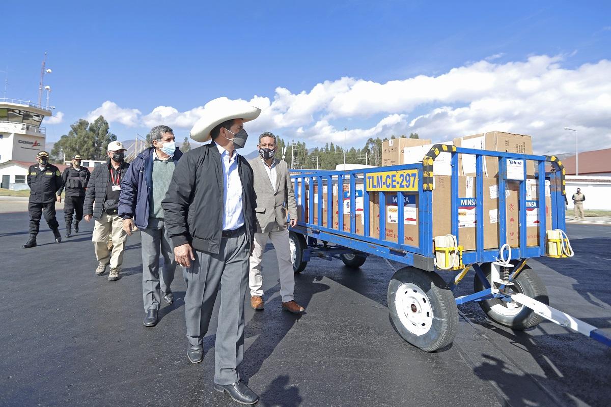 La meta es vacunar a 13 millones de peruanos en setiembre, indicó desde Cajamarca el mandatario Pedro Castillo.