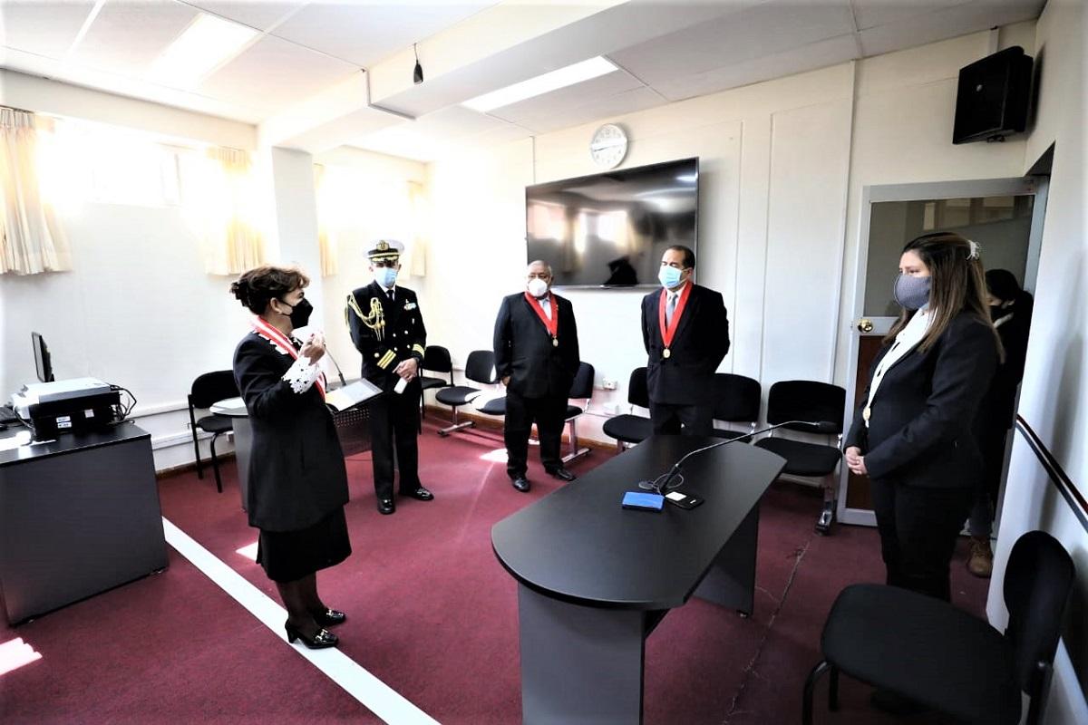 Se implementará sistema de la oralidad en la Corte Superior de Huancavelica indicó presidenta del Poder Judicial.