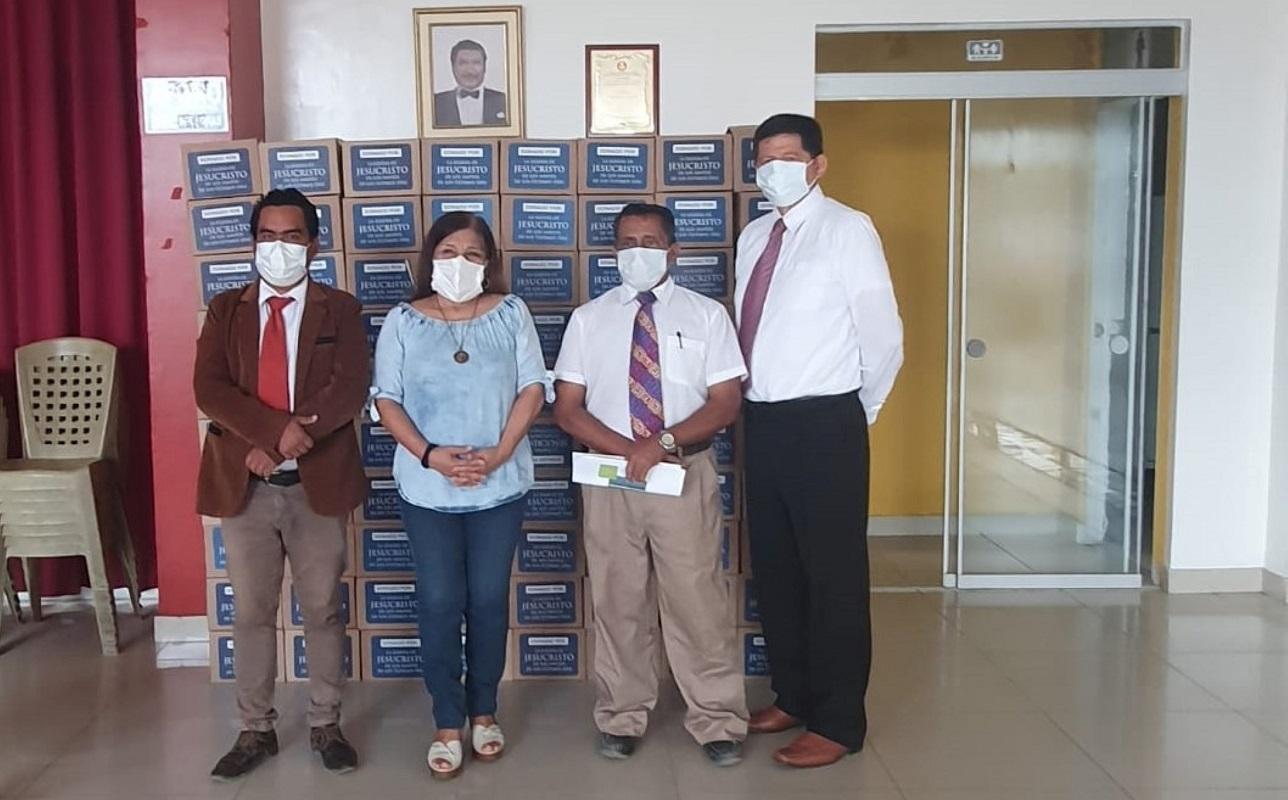 Iglesia de Jesucristo a iniciativa de su programa de servicios humanitarios dona 400 Kits de bioseguridad al colegio médico de Tumbes.