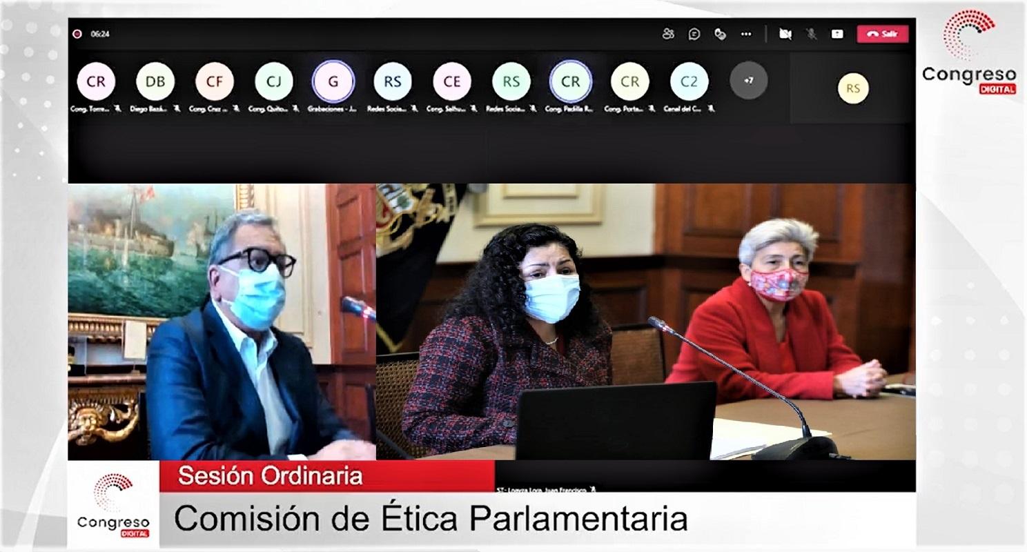 Hasta que por fin se instala y conforma la comisión de ética parlamentaria del Congreso.