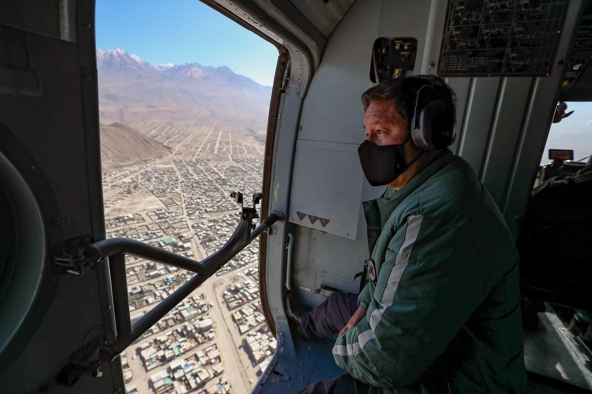 Premier Bellido cumple jornada de trabajo en Espinar-Cusco para solucionar sus demandas sociales postergadas por años.
