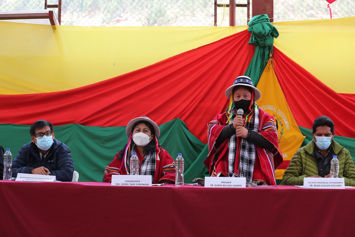 Se reinstaló diálogo entre Gobierno y minera Las Bambas, premier Bellido indicó que se evaluarán los avances logrados.