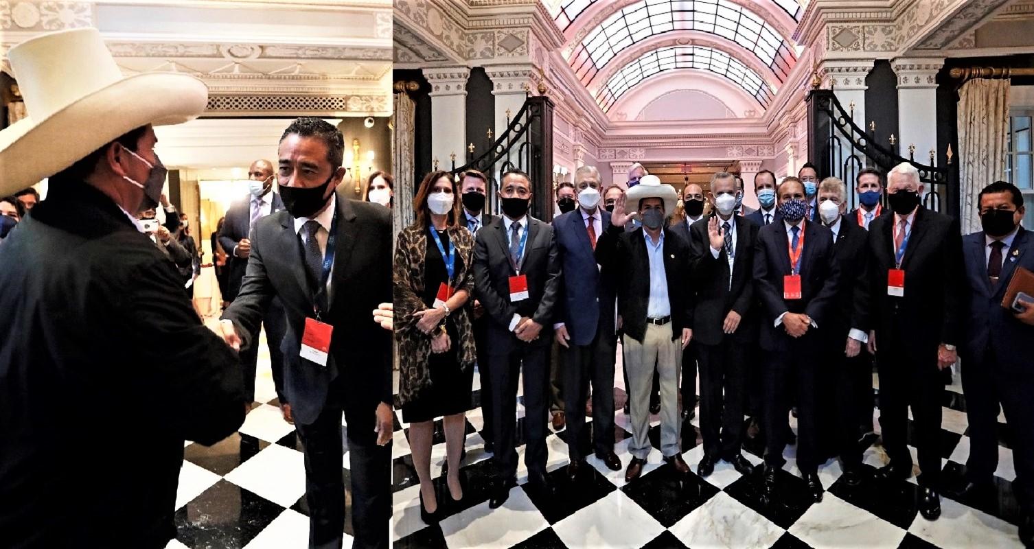 Washington D. C. gobernante peruano se reunió con miembros de la Cámara de Comercio Americana del Perú.