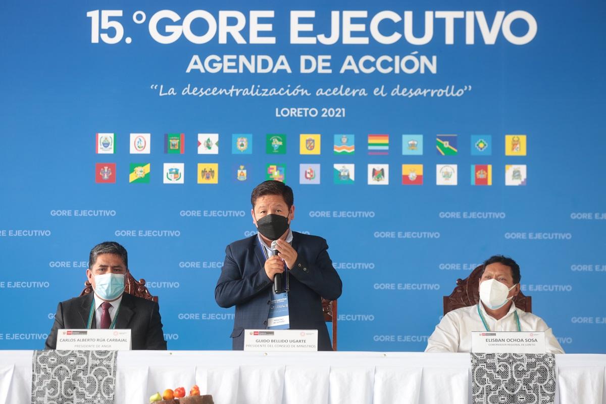 """15.° GORE EJECUTIVO Agenda en Acción """"La descentralización acelera el desarrollo"""" LORETO 2021."""