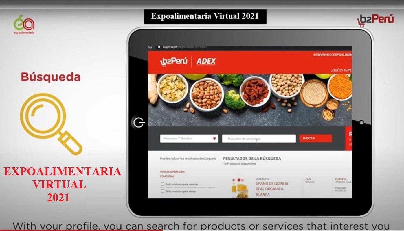 Mañana empieza La Expoalimentaria Virtual 2021, y más alimentos peruanos buscan fortalecer posición en el mundo.