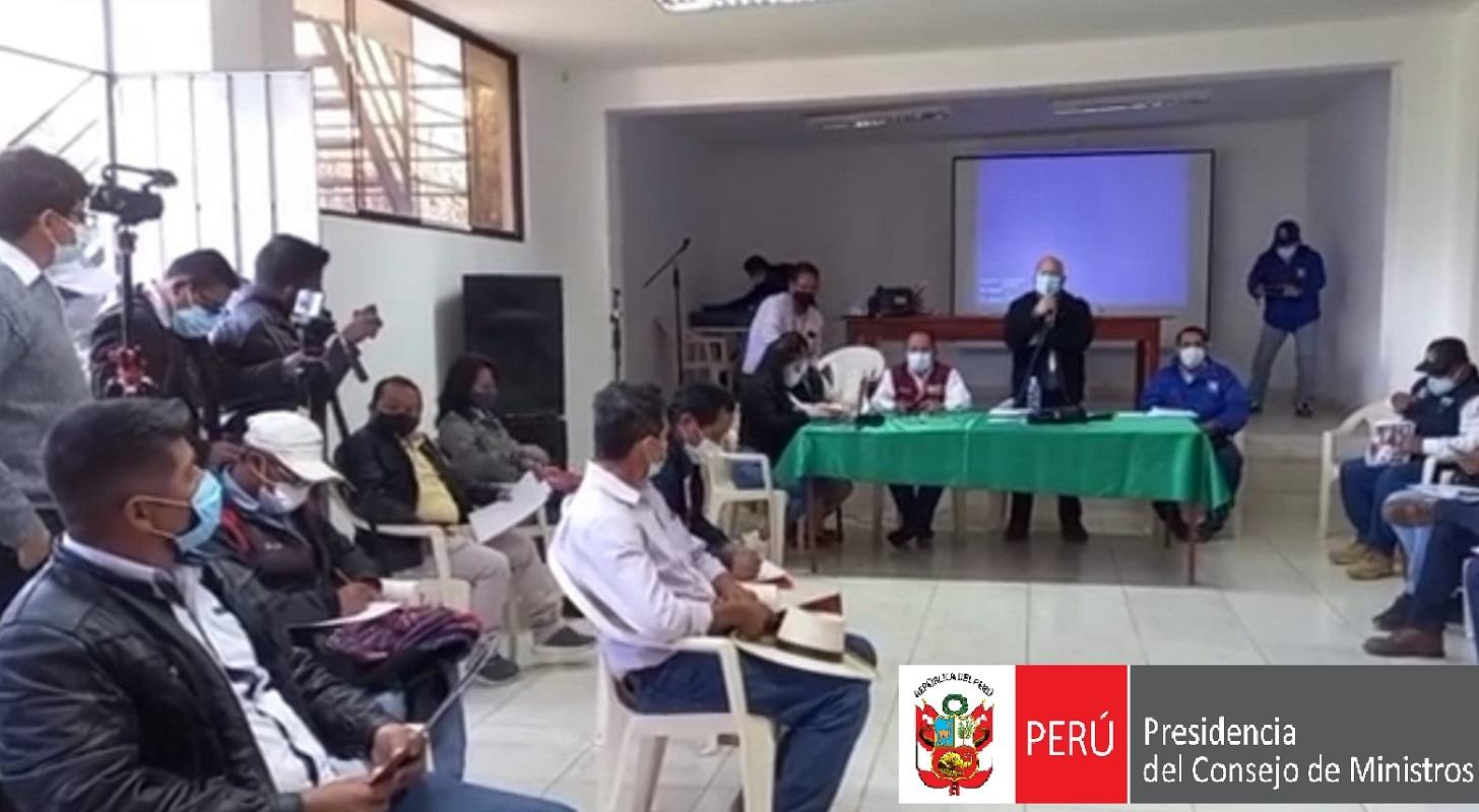 Desde Piura la PCM inició en Ayabaca mesa de trabajo que impulsará soluciones definitivas sobre obras paralizadas.