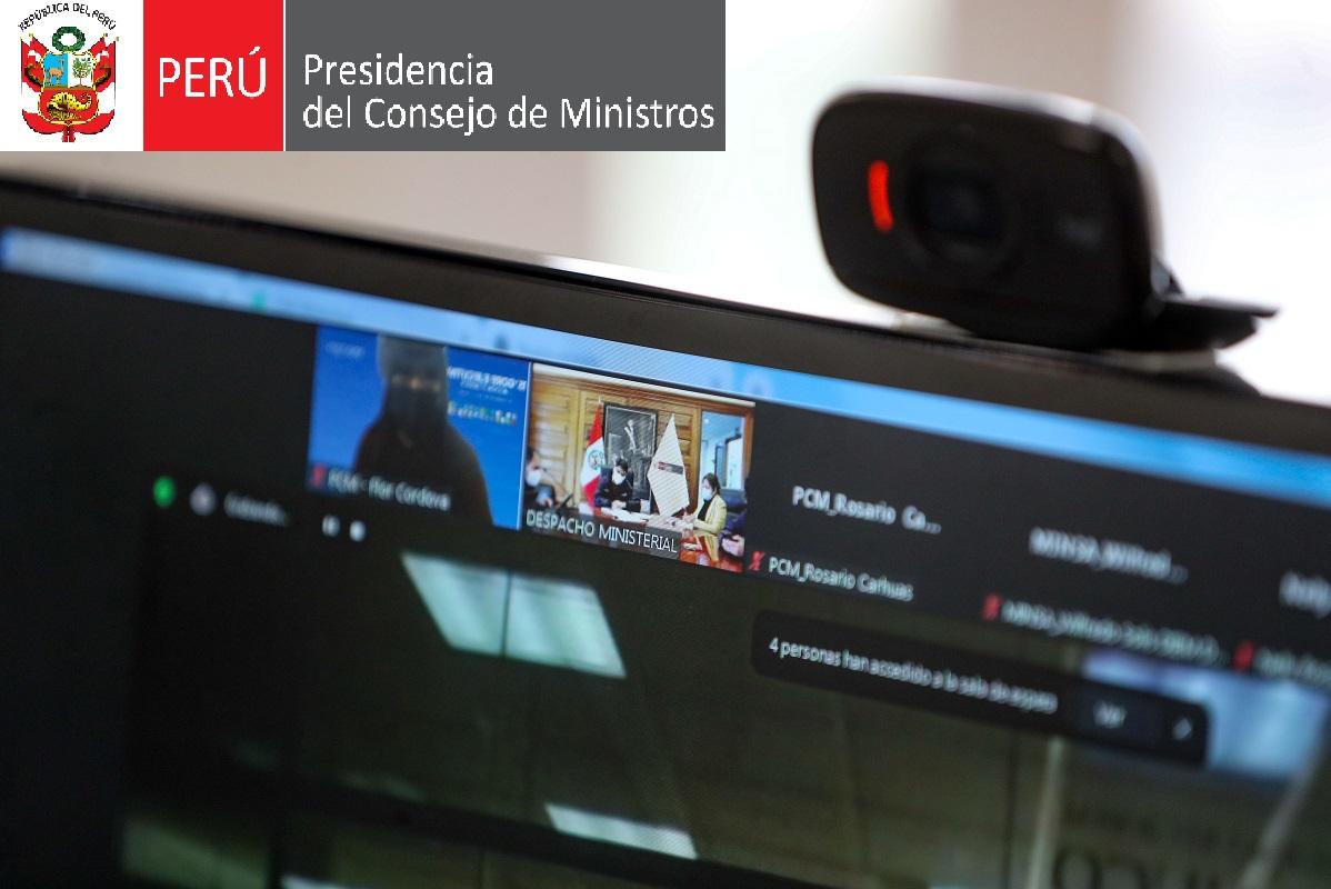 Alrededor de 90 reuniones bilaterales virtuales entre ministerios y gobiernos regionales previo al 15° GORE Iquitos 2021.