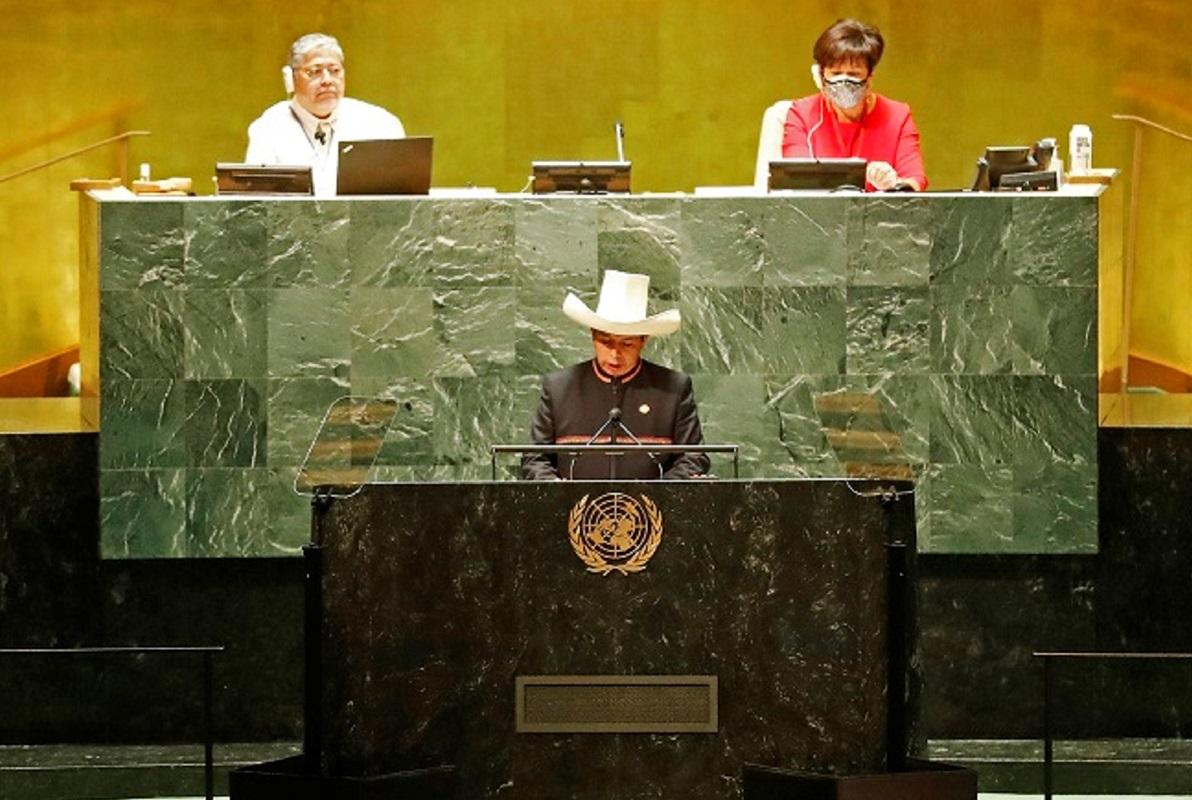 ONU: Pedro Castillo, condenamos el terrorismo y proponemos el Multilateralismo para luchar contra la pandemia y el acceso a las vacunas.