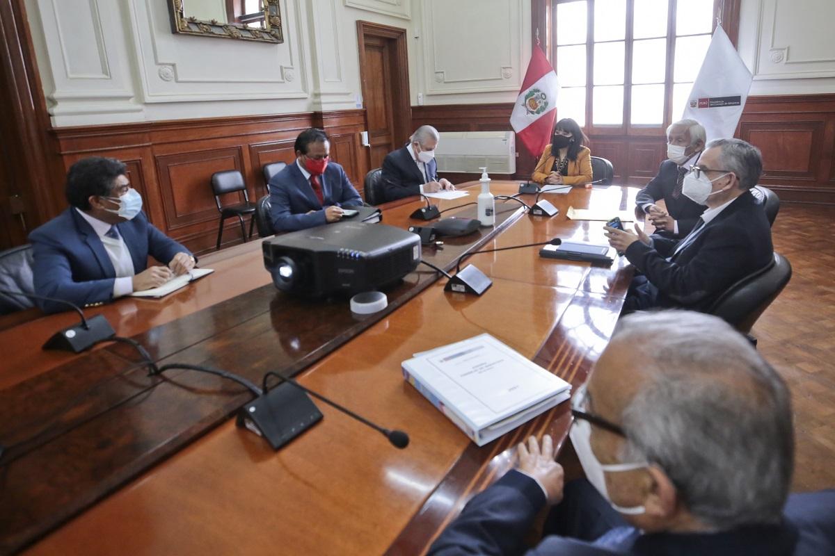 Comisión multisectorial liderada por premier Mirtha Vásquez trabaja la renegociación del contrato del gas de Camisea.