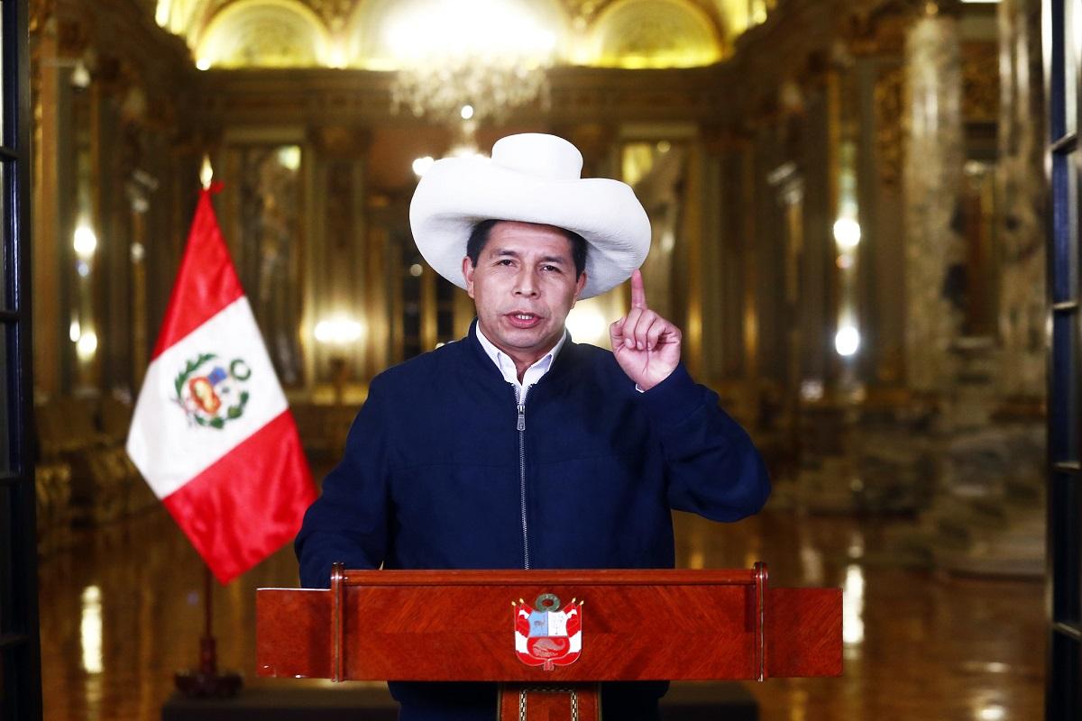 El presidente de la República, Pedro Castillo Terrones, brindará hoy un mensaje a la Nación, a las 15:30 horas.