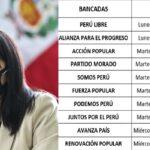 Rondas de Diálogo por la Gobernabilidad es el lema bajo el cual Mirtha Vásquez buscará ganar el voto de confianza del parlamento peruano.