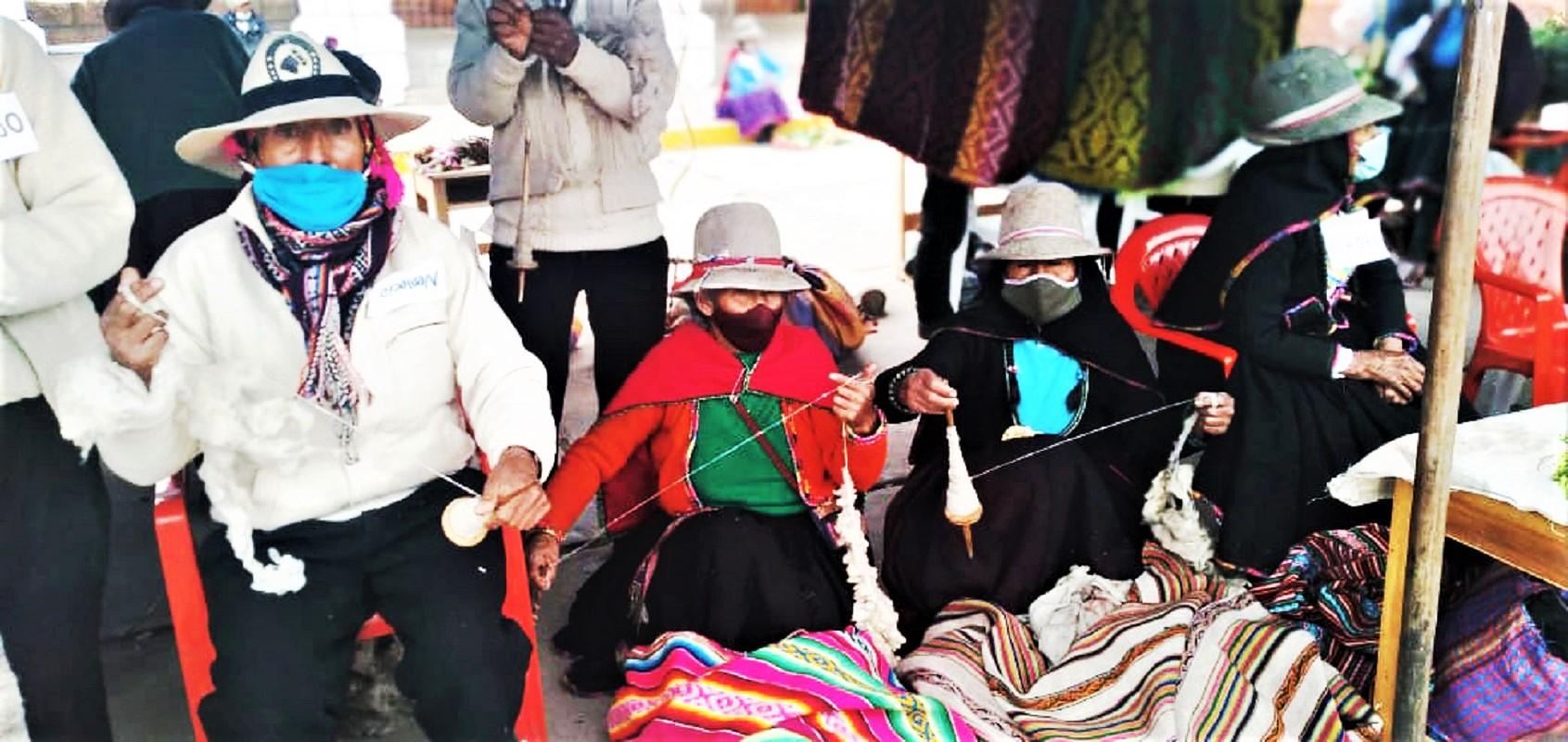 Adultos mayores de Canas en Cusco participaron en Encuentro de Saberes Productivos de Pensión 65.