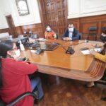 Bancadas de Somos Perú, Juntos por el Perú y Fuerza Popular se reúnen con premier Mirtha Vásquez en busca del voto de investidura.
