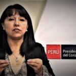 Mirtha Vásquez, lamenta decisión del Congreso de aprobar la ley que desarrolla el ejercicio de la cuestión de confianza.